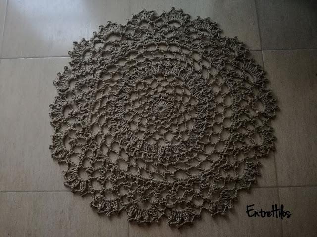 como hacer una alfombra a crochet