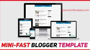 Mini Fast Blogger Template - Perfect And Stylish Design - Responsive Blogger Template