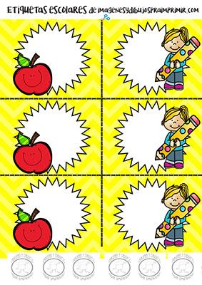 Etiquetas para preescolar para imprimir