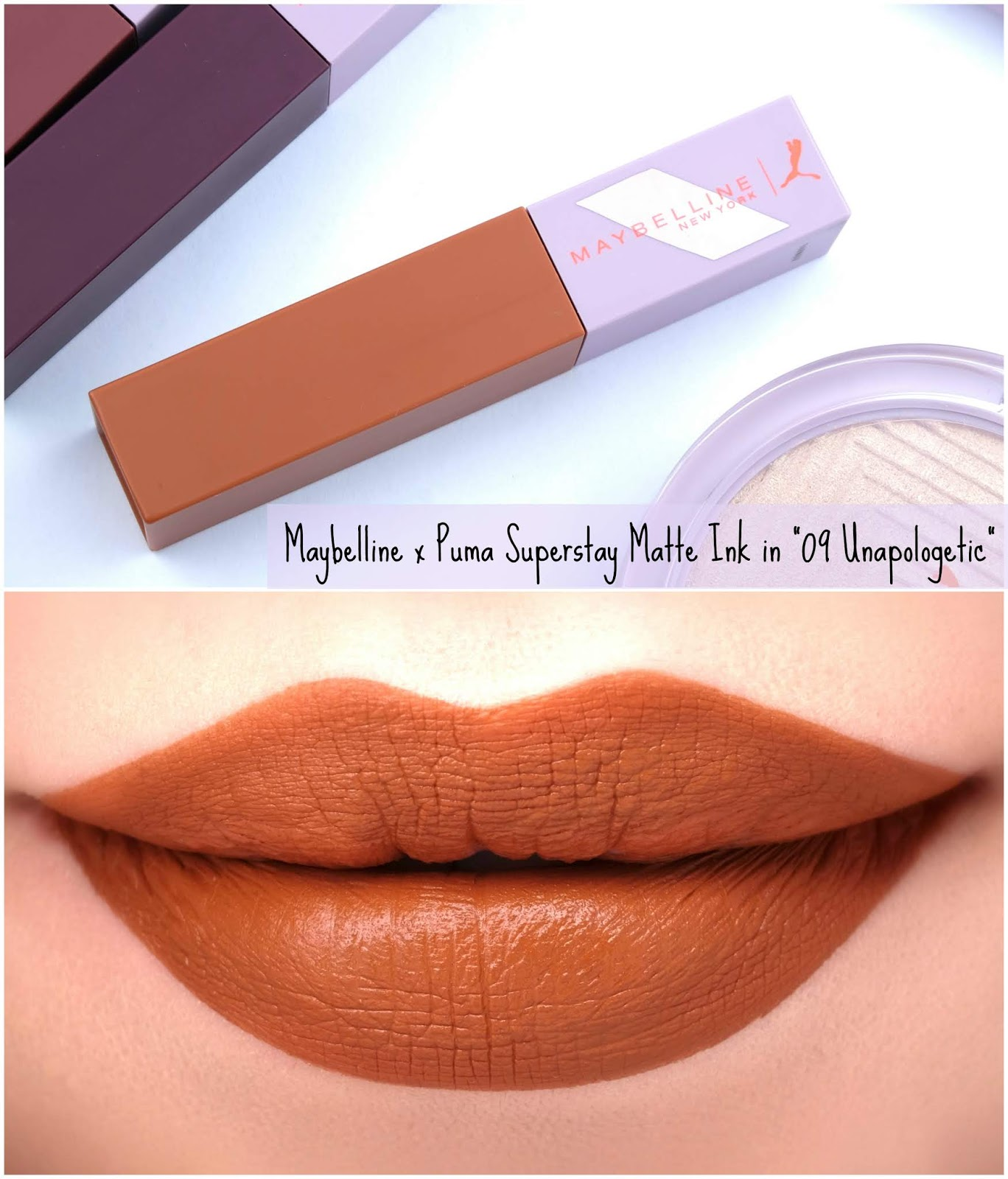 "Maybelline | Maybelline x Puma Superstay Matte Ink in ""09 Unapologetic"": Review and Swatches"
