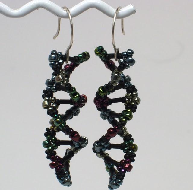 gwenbeads: DNA Double Helix Bead Weaving Earrings