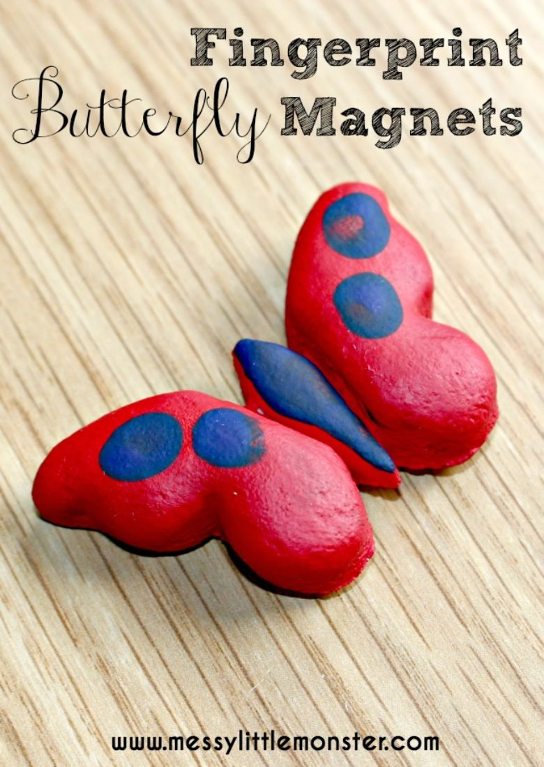 salt dough butterfly craft