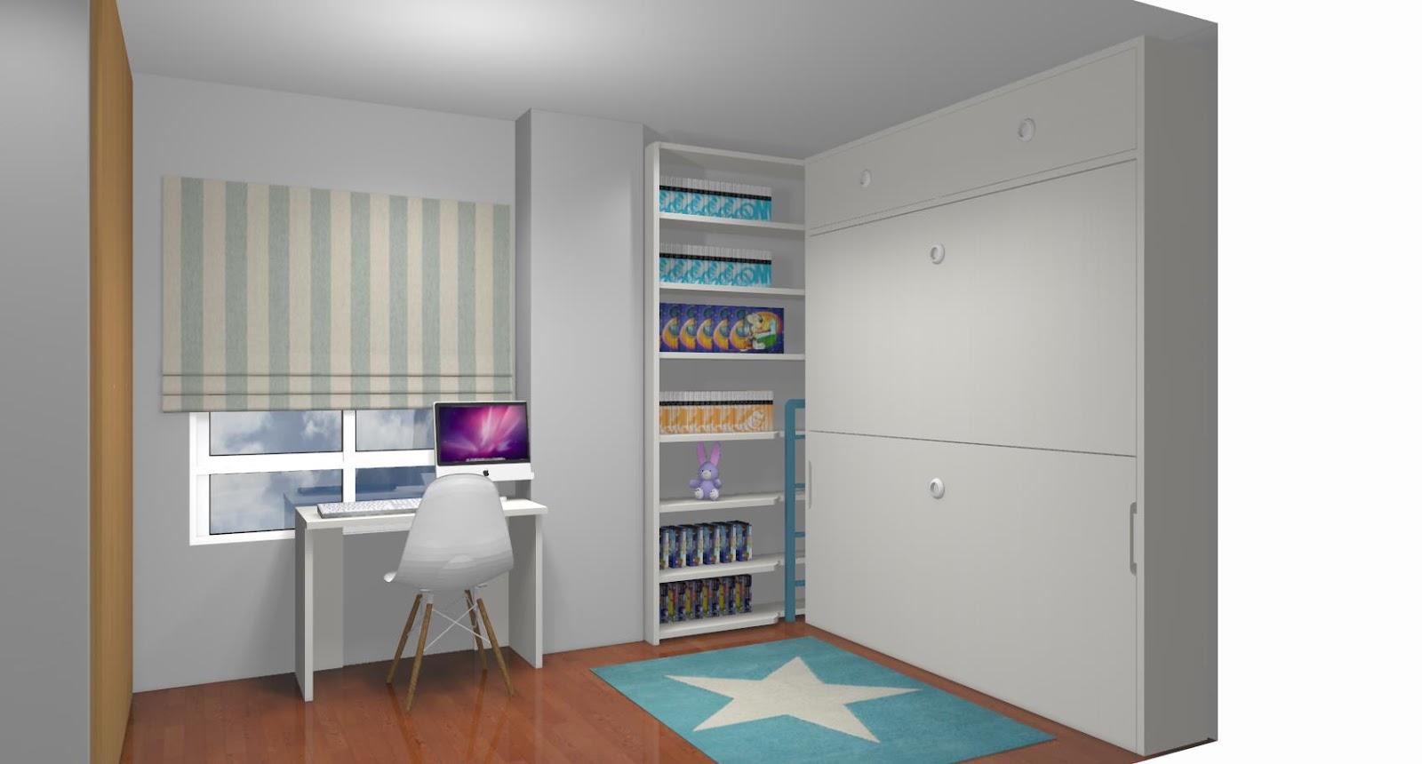 Dormitorios juveniles a medida con cama compacto - Habitaciones juveniles con dos camas ...