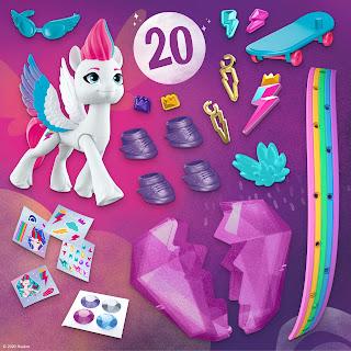 My Little Pony: A New Generation Movie Crystal Adventure Zipp Storm, Surprise Accessories