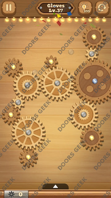 Fix it: Gear Puzzle [Gloves] Level 37 Solution, Cheats, Walkthrough for Android, iPhone, iPad and iPod