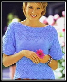 letnii pulover s korotkim rukavom spicami (2)