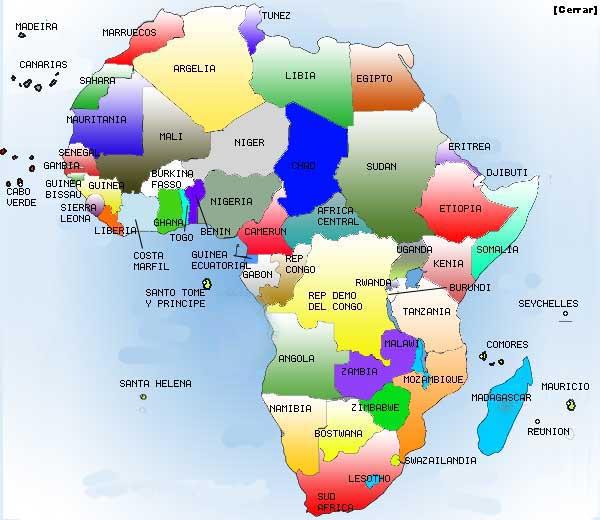 Mapa Politico De Africa Interactivo.Blog De Geografia E Historia 1ºeso Ies La Flota Mapa Africa Politico Y Fisico