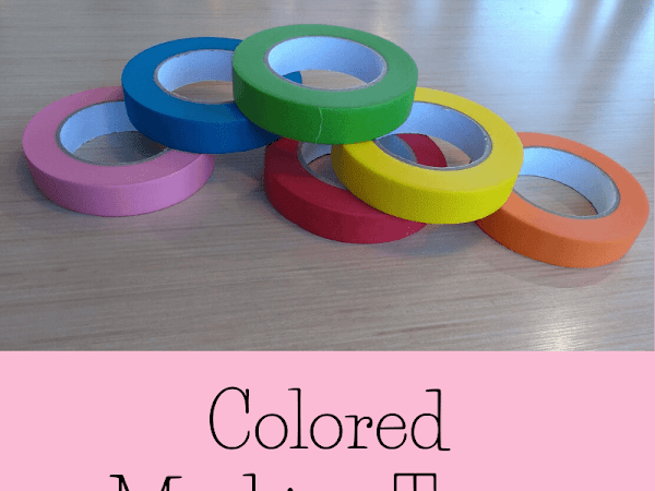 Colorfully Organize Your Life With Jumbo Colored Masking Tape