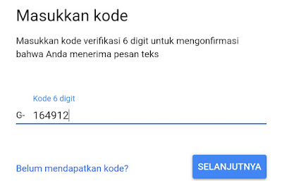 cara reset password gmail lewat hp