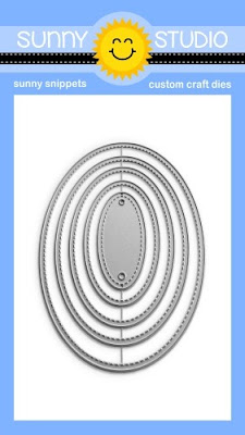 Sunny Studio Stamps Stitched Oval 2 Nesting Metal Cutting Dies