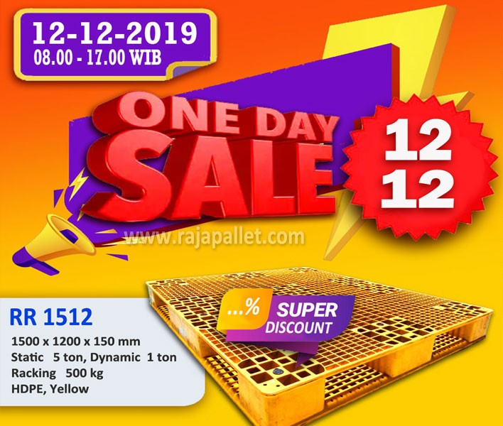 Rajapallet One Day Sale 12-12 | Pallet Plastik Heavy Duty