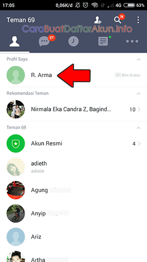cara membuat akun Line di android