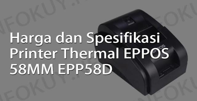harga dan spesifikasi printer thermal eppos 58mm epp58d