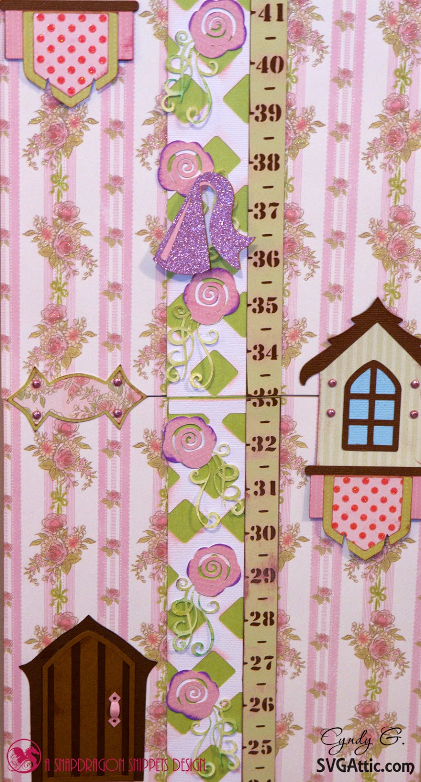 close of rose vine ruler