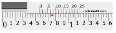 cara membaca jangka sorong skala inchi