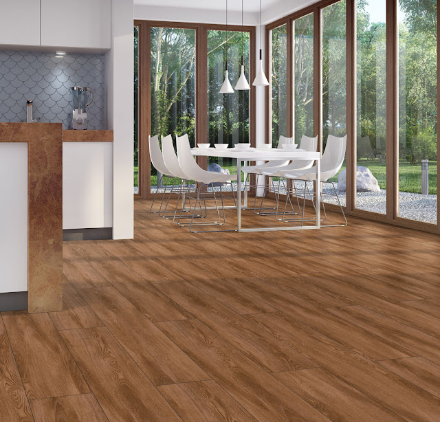 Brown Kitchen Floor Tile