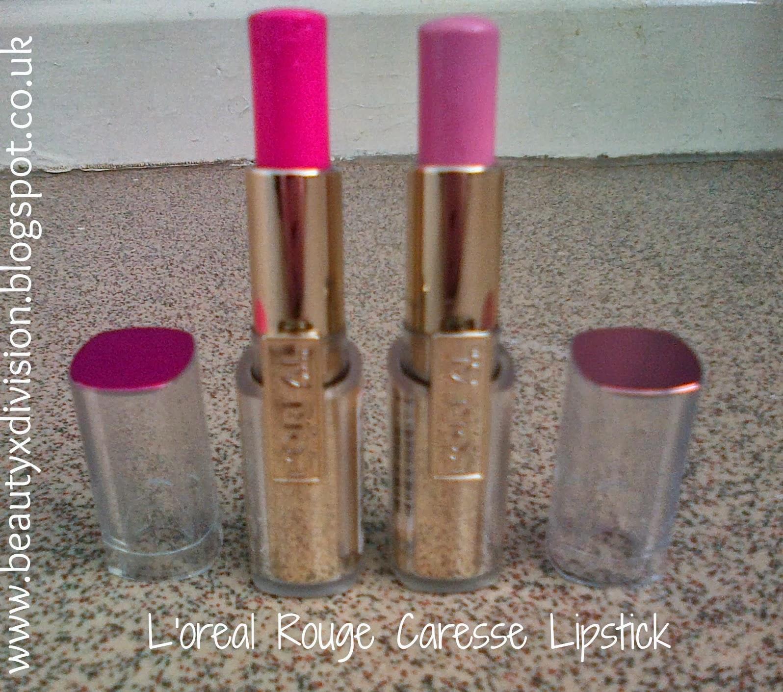 L'oreal Rouge Caresse Lipsticks