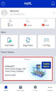 kuota gratis xl 250 mb untuk internet - paket xtra gift