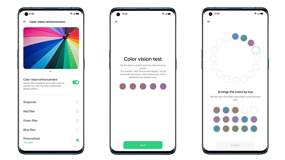 OPPO Find X3 Pro Color Vision Enchancement