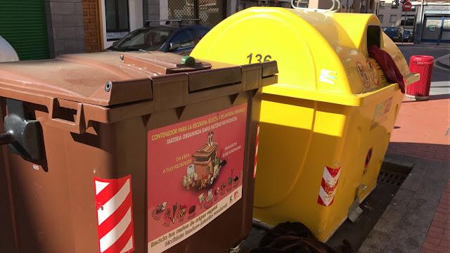Contenedores de recogida selectiva de residuos