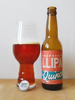 La Quince Grapefruit LLIPA IPA La Tienda de la cerveza dorado y en botella