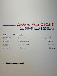Second half of the Sentiero delle Orobie, info - Tito Terzi Exhibit