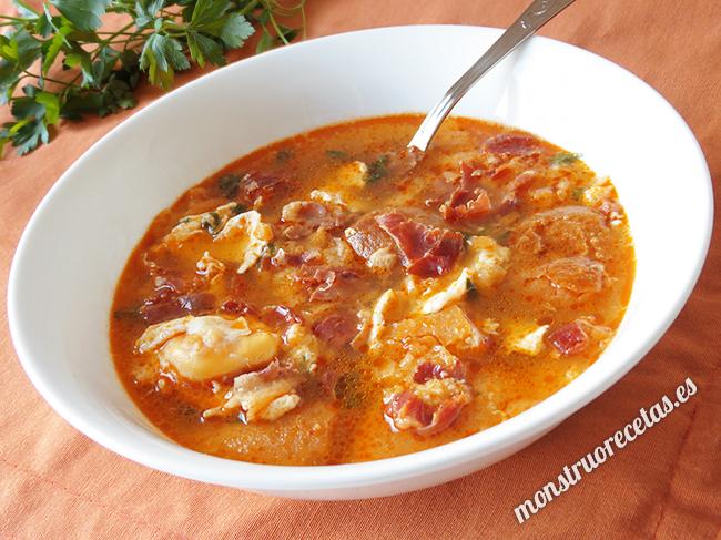 Sopa castellana o sopa de ajo el monstruo de las recetas - Sopa castellana casera ...