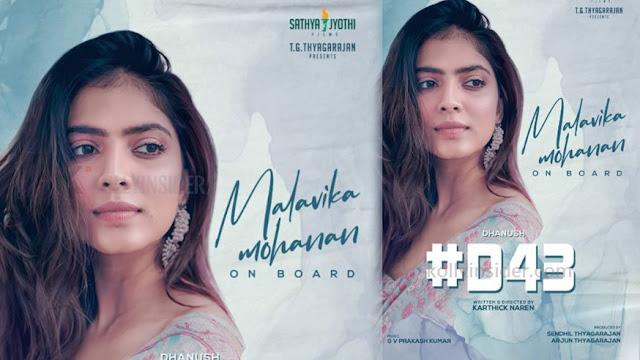 Malavika Mohanan pairs Dhanush for Karthick Naren's film