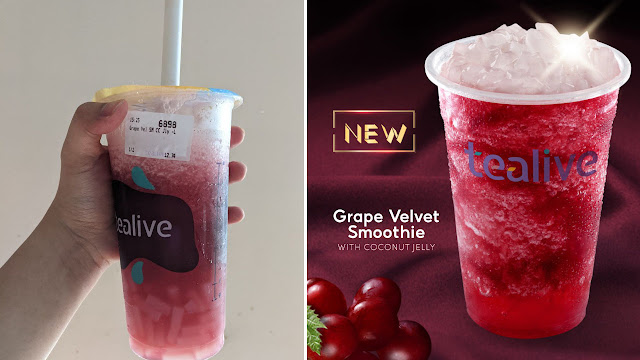 Grape Velvet Smoothie With Coconut Jelly