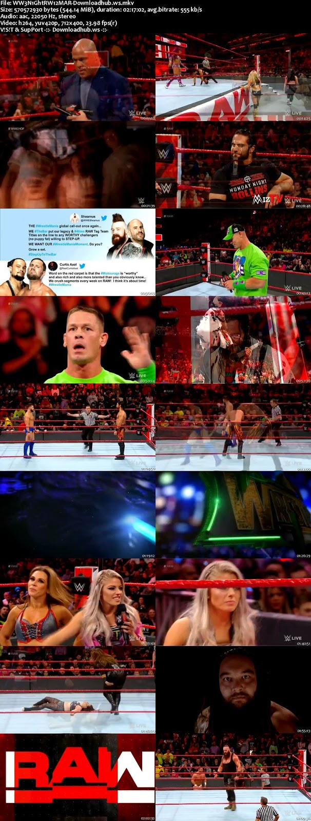 WWE Monday Night Raw 12 March 2018 480p HDTV Download