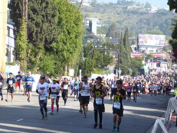 LA Marathon 2017 runners West Hollywood