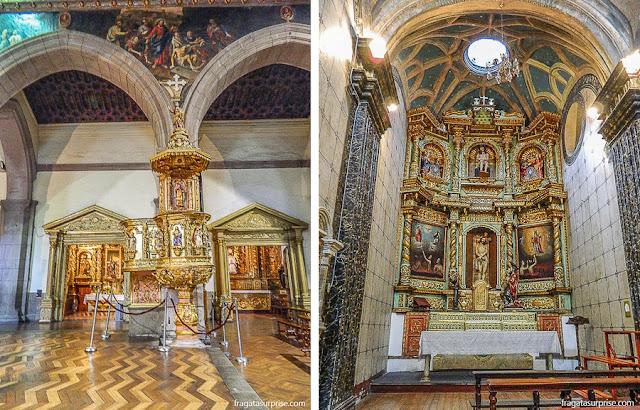 Altares barrocos da Catedral de Quito, Equador