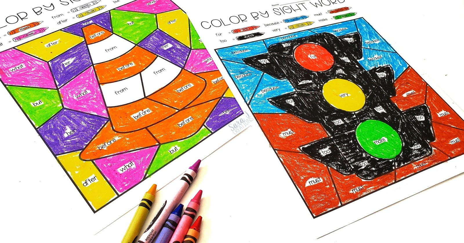 Freebie alert. Color by sight word pages that are editable and come with a fun construction theme.