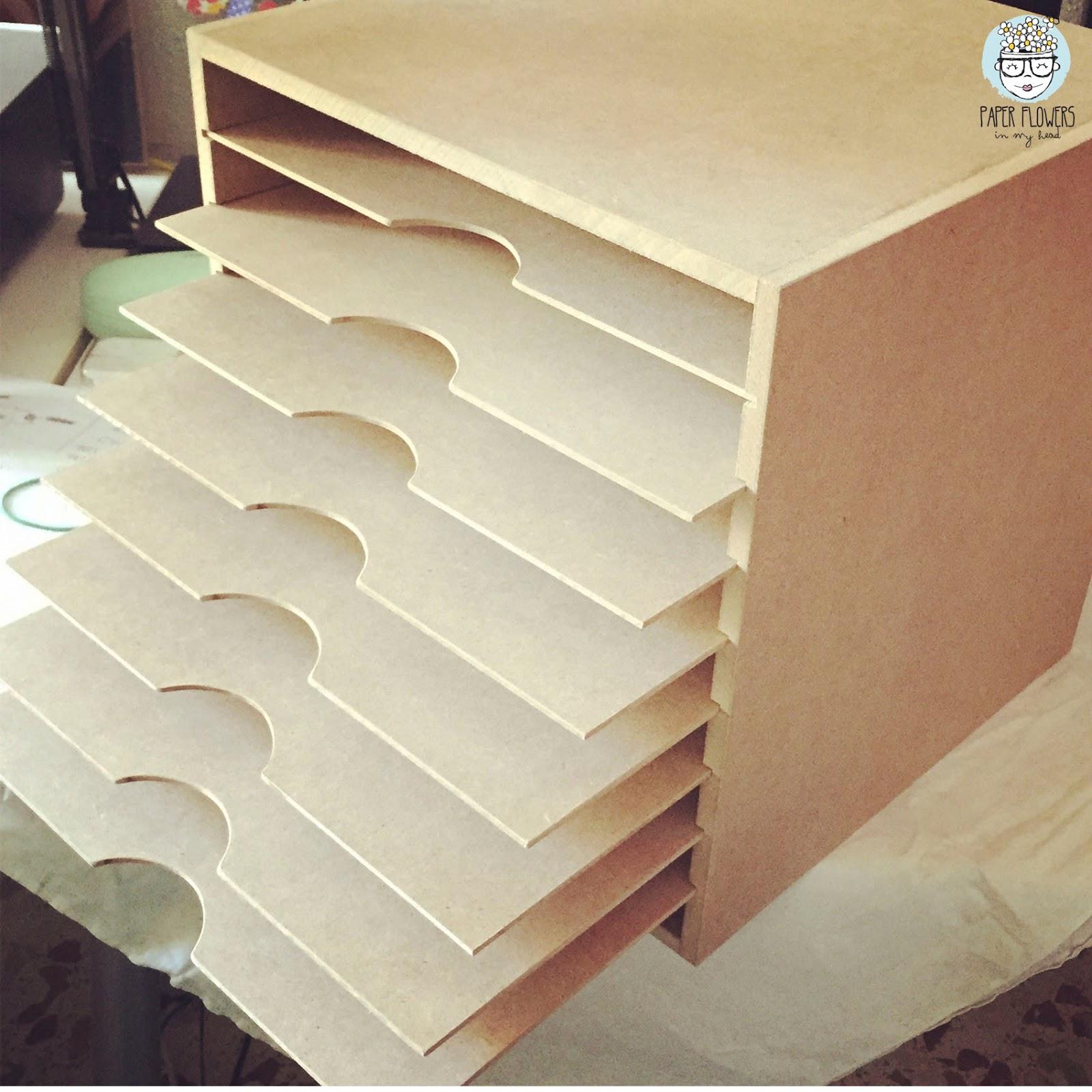Mi mueble para papel de scrapbooking pintado con chalk - Papel para muebles ...