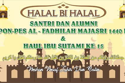 4 Contoh Desain Banner Spanduk Halal Bihalal CDR
