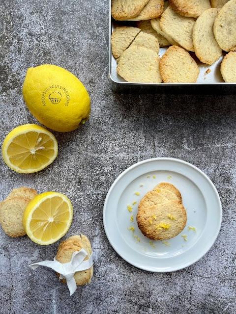 Sablés au citron - Recette facile - IG bas