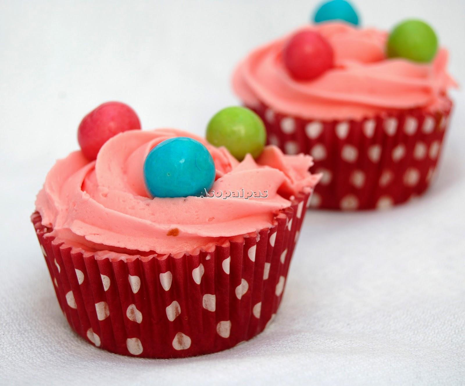 Cupcakes preparados con Pasta de Chicle