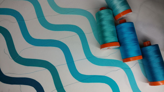 Matching Aurifil threads to Kona solids