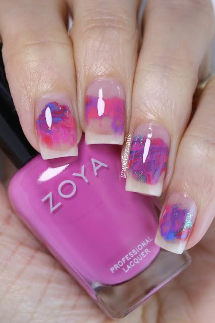 Zoya Dreamin' Smoosh Nail Art