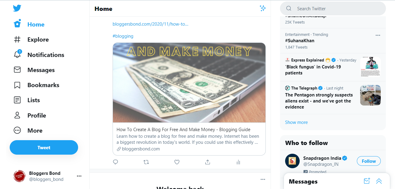 How To Tweet A Link With Preview Image on Twitter