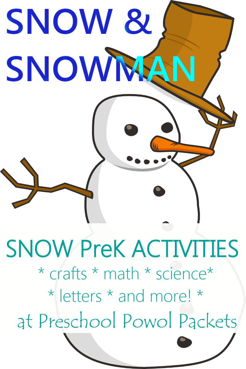 Snowman Letters Preschool Snow Activities For A Theme Or