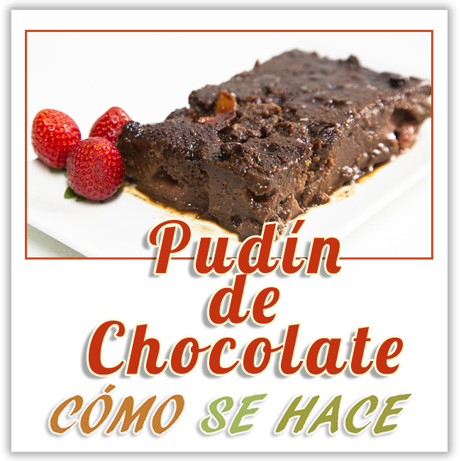 pudin de chocolate