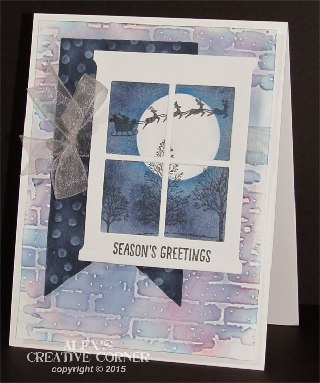 Alex's Creative Corner: Christmas Window Card