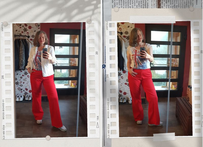 Classic Red Sailor Jeans