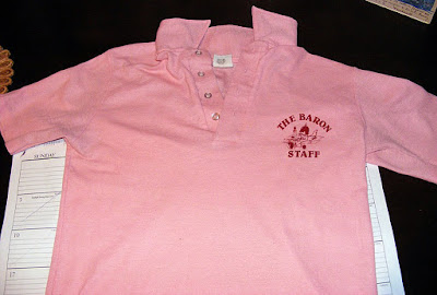 The Red Baron club staff shirt