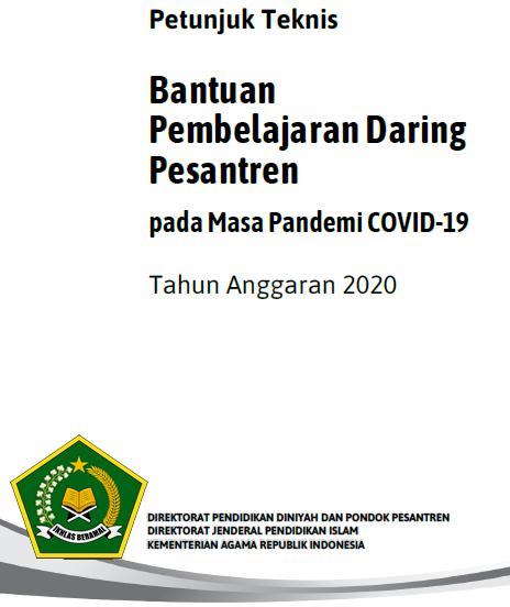 Juknis Bantuan Pembelajaran Daring Pesantren Pada Masa Pandemi Covid-19