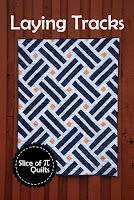 Laying Tracks is a two color quilt great for a graduation quilt in school colors!