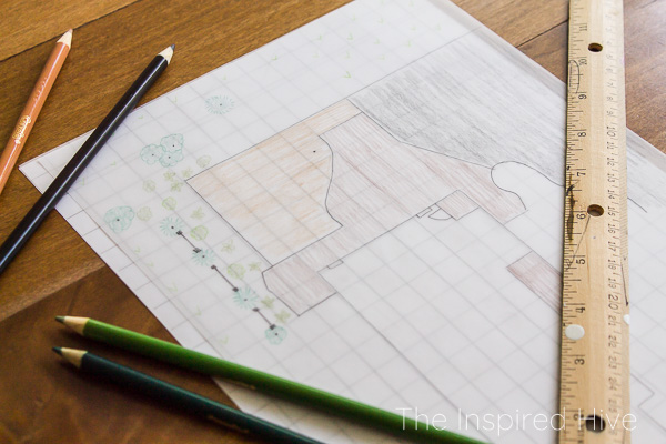 Patio design drawing