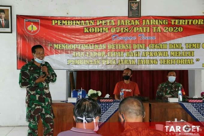 Kodim PATI Gelar Pembinaan Peta Jarak Jaring Teritorial di Baladesa Wedarijaksa