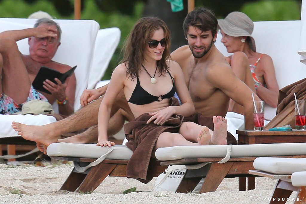 Emma Watson in Bikini with her boyfriend